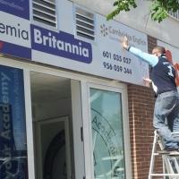Rotulación de la ampliación de la Academia Britannia