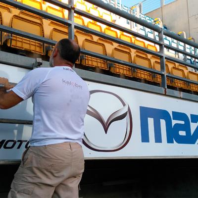 Rotulación del estadio Carranza para el Grupo Solera