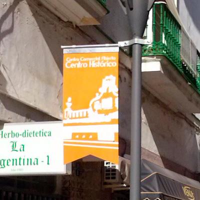 Banderolas engalamiento centro histórico El Puerto de Santa María