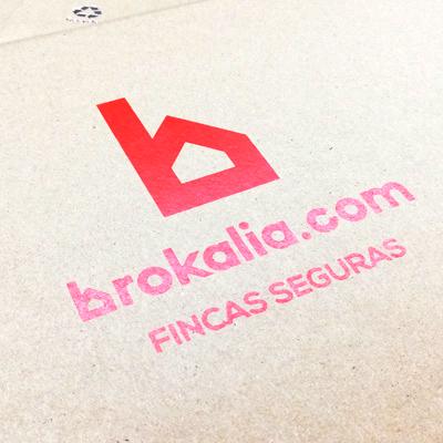 Portadocumentos rotulados para Brokalia