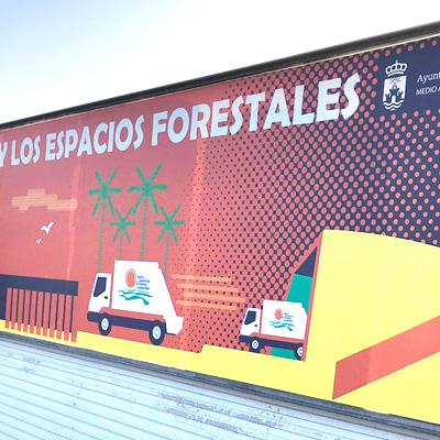 Vinilo XL en cercado exterior para instalaciones CEMPLAF